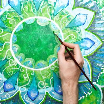Meditatives Malen- Verbinde Meditation mit Kreativität